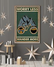 Retro Green Worry Less Cycling 11x17 Poster lifestyle-holiday-poster-1