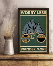 Retro Green Worry Less Cycling 11x17 Poster lifestyle-poster-3