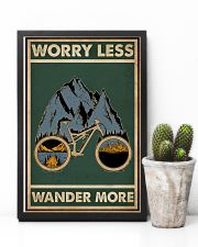 Retro Green Worry Less Cycling 11x17 Poster lifestyle-poster-8