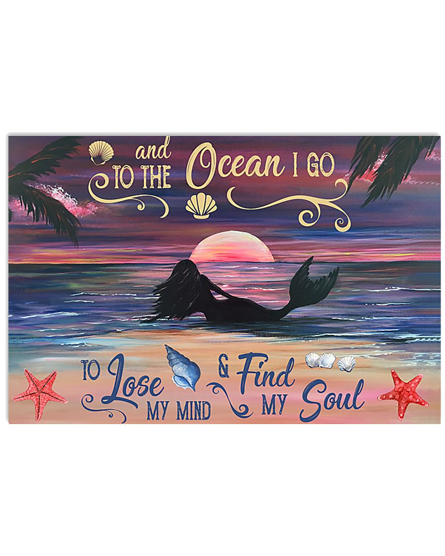 Mermaid Into The Ocean 17x11 Poster