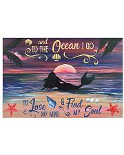 Mermaid Into The Ocean 17x11 Poster front