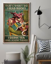 Read Books And Drink Tea Dragon 16x24 Poster lifestyle-poster-1