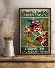 Read Books And Drink Tea Dragon 16x24 Poster lifestyle-poster-3