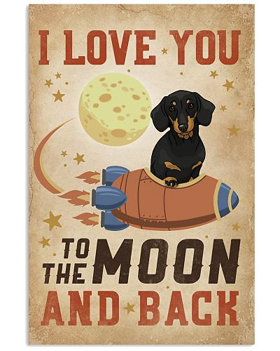 I Love You To The Moon And Back Dachshund
