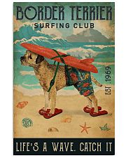 Surfing Club Border Terrier 11x17 Poster front