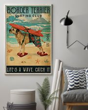 Surfing Club Border Terrier 11x17 Poster lifestyle-poster-1