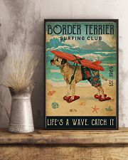 Surfing Club Border Terrier 11x17 Poster lifestyle-poster-3
