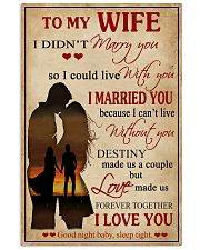 Love Made Us Forever Together Husband To Wife 11x17 Poster front
