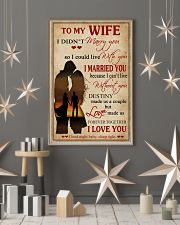 Love Made Us Forever Together Husband To Wife 11x17 Poster lifestyle-holiday-poster-1