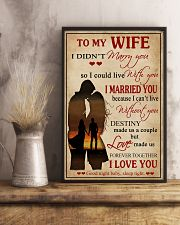 Love Made Us Forever Together Husband To Wife 11x17 Poster lifestyle-poster-3