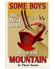 Some Boys Born With The Mountain Skiing 16x24 Poster front