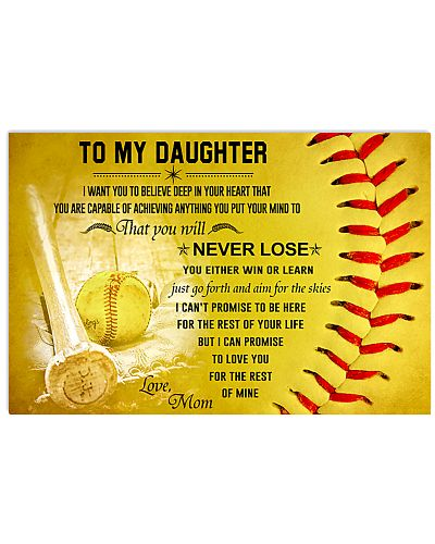 Softball Mom To My Daughter