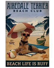 Vintage Beach Club Is Ruff Airedale Terrier 11x17 Poster front