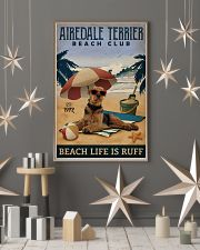 Vintage Beach Club Is Ruff Airedale Terrier 11x17 Poster lifestyle-holiday-poster-1