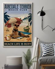 Vintage Beach Club Is Ruff Airedale Terrier 11x17 Poster lifestyle-poster-1
