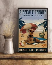 Vintage Beach Club Is Ruff Airedale Terrier 11x17 Poster lifestyle-poster-3