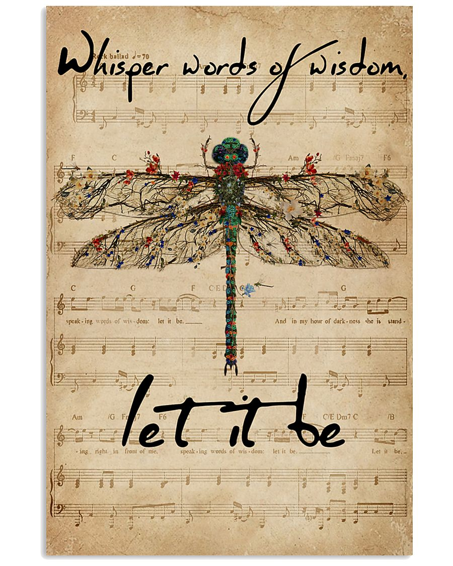Music Sheet Let It Be Dragonfly 16x24 Poster