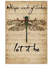 Music Sheet Let It Be Dragonfly 16x24 Poster front