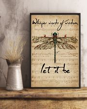Music Sheet Let It Be Dragonfly 16x24 Poster lifestyle-poster-3