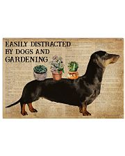 Dictionary Distracted By Dachshund And Gardening 24x16 Poster front