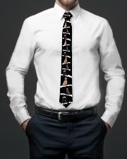 Christmas Snow Labrador Retriever Tie aos-tie-lifestyle-front-01