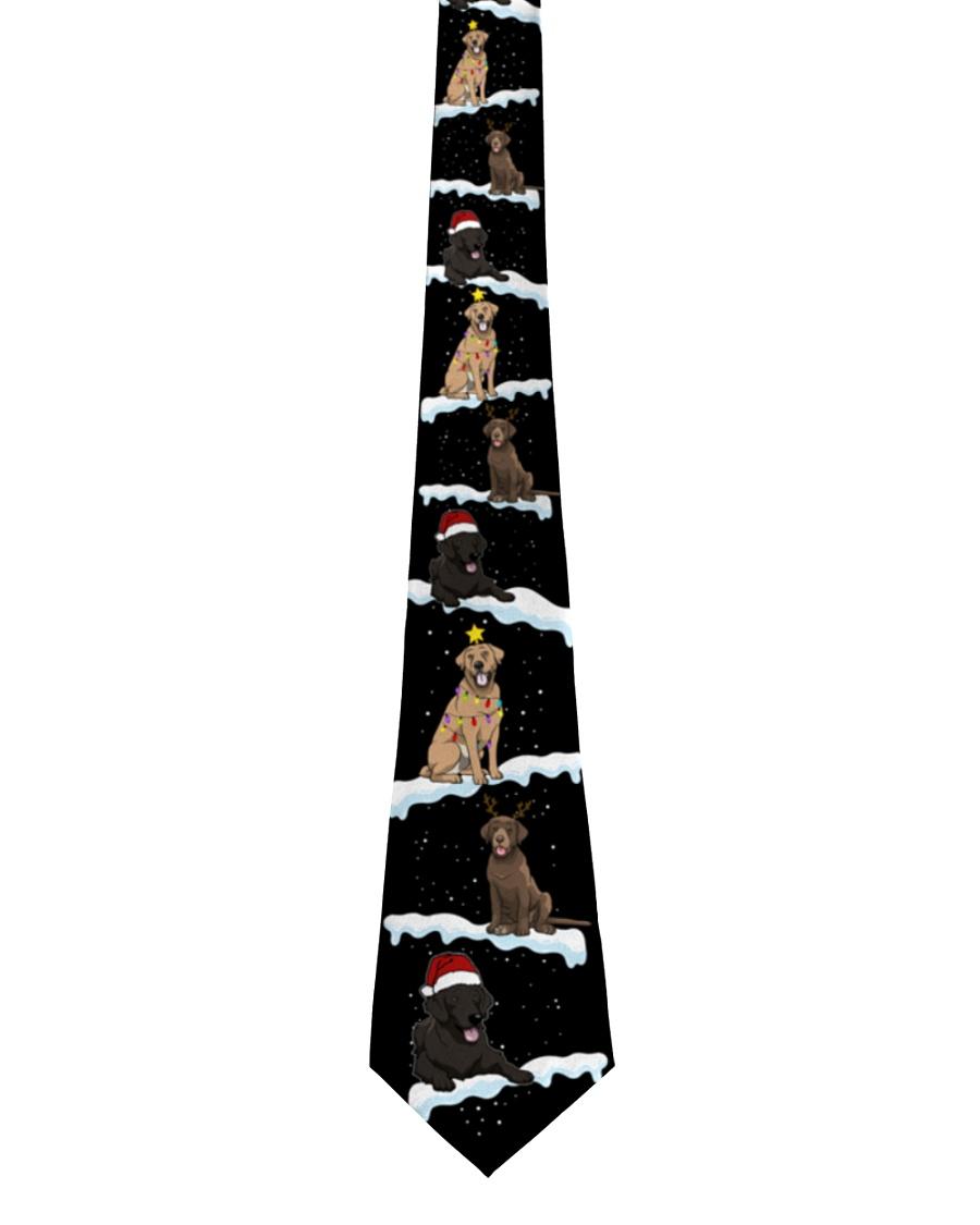 Christmas Snow Labrador Retriever Tie