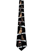 Christmas Snow Labrador Retriever Tie front