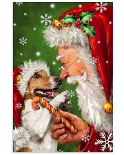 Jack Russell Smile With Santa Christmas 11x17 Poster front