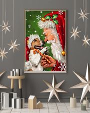 Jack Russell Smile With Santa Christmas 11x17 Poster lifestyle-holiday-poster-1