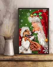 Jack Russell Smile With Santa Christmas 11x17 Poster lifestyle-poster-3