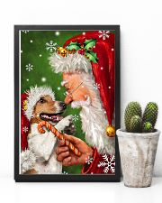 Jack Russell Smile With Santa Christmas 11x17 Poster lifestyle-poster-8