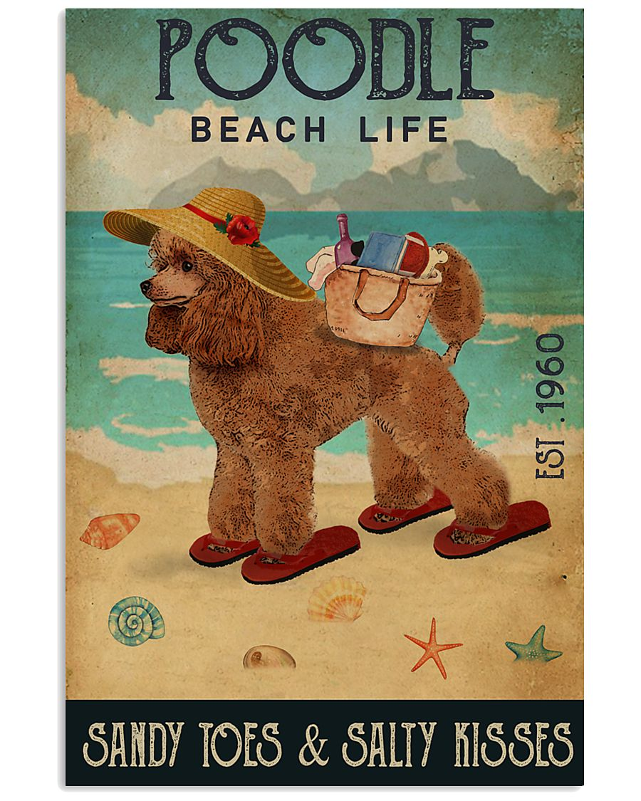 Beach Life Sandy Toes Poodle 11x17 Poster