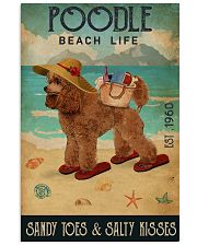 Beach Life Sandy Toes Poodle 11x17 Poster front