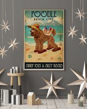 Beach Life Sandy Toes Poodle 11x17 Poster lifestyle-holiday-poster-1