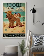 Beach Life Sandy Toes Poodle 11x17 Poster lifestyle-poster-1