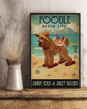 Beach Life Sandy Toes Poodle 11x17 Poster lifestyle-poster-3
