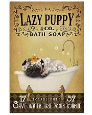 Yellow Bath Soap Pug 11x17 Poster front