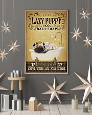 Yellow Bath Soap Pug 11x17 Poster lifestyle-holiday-poster-1
