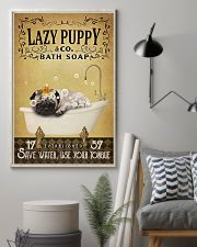 Yellow Bath Soap Pug 11x17 Poster lifestyle-poster-1