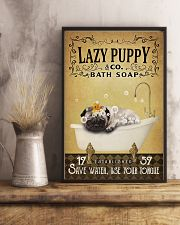Yellow Bath Soap Pug 11x17 Poster lifestyle-poster-3