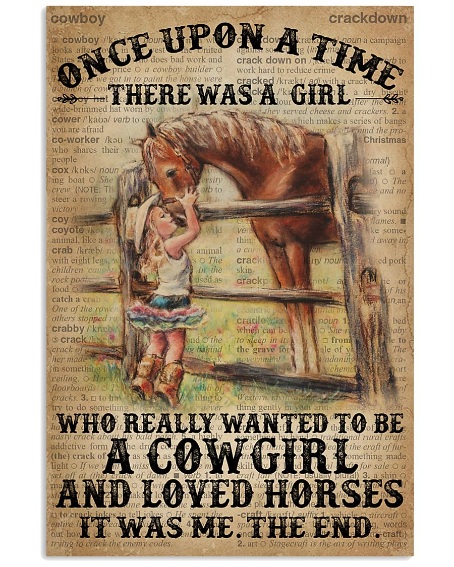 Vintage Dictionary Once Upon A Time Horse Cow 11x17 Poster
