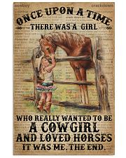 Vintage Dictionary Once Upon A Time Horse Cow 11x17 Poster front