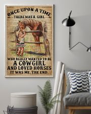 Vintage Dictionary Once Upon A Time Horse Cow 11x17 Poster lifestyle-poster-1