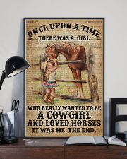 Vintage Dictionary Once Upon A Time Horse Cow 11x17 Poster lifestyle-poster-2