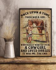 Vintage Dictionary Once Upon A Time Horse Cow 11x17 Poster lifestyle-poster-3