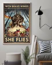 Blue Earth Forest With Brave Wings Butterfly 16x24 Poster lifestyle-poster-1