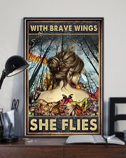 Blue Earth Forest With Brave Wings Butterfly 16x24 Poster lifestyle-poster-2