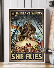 Blue Earth Forest With Brave Wings Butterfly 16x24 Poster lifestyle-poster-4