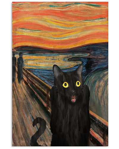 The Scream Black Cat