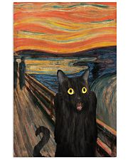 The Scream Black Cat 16x24 Poster front